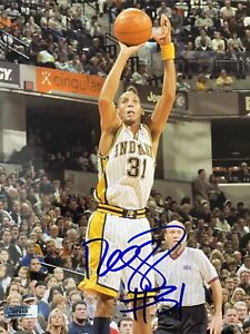 REGGIE MILLER SIGNED AUTOGRAPHED AUTHENTIC 8X10 PHOTO INDIANA PACERS NBA - COA
