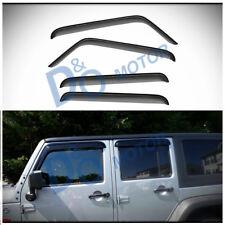 4pcs Smoke Sun/Rain Guard Vent Shade Window Visors Fit 07-18 Wrangler JK 4-Door