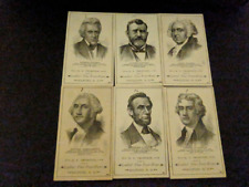 Rare Authentic Vintage 1880'S PRESIDENTS OF USA COMPLETE (23) CARD SET