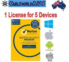 SYMANTEC Norton Security Premium 2018 5 PC Devices Windows Mac Android ID Key