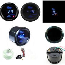 "2"" 52mm Digital Universal Turbo Boost Gauge Meter Blue LED Black PSI Top Quality"