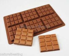 6 Cella 65g BAR 12 sezione Chunk Chocolate Chocolatier CANDY Stampo in silicone n077
