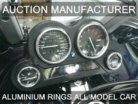 Bmw K1200 GT /  RS   Chrome Dial Surrounds Gauge Rings Polished Alloy New