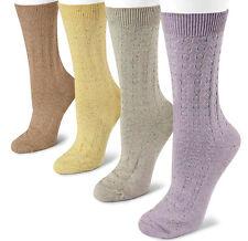 e7fe25ff6 Muk Luks Women Colorful Crew Socks Ribbed Confetti Cute 4 Pair Lot Gift Set  9-