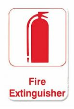 "Fire Extinguisher - Information Sign with Symbols Door Sign 6"" X 9"" Tplis6913Rd"