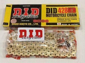 DID 428 HD HEAVY DUTY GOLD MOTORCYCLE MX CHAIN 130 LINKS INC SPLIT LINK