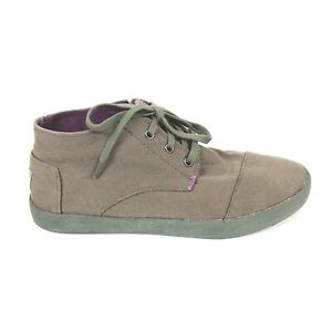 TOMS Purple/Gray Chukka Ankle Lace Up Canvas Boots Men's Size 8