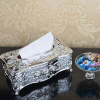 Elegant Tissue Box Cover Napkin Case Storage Holder Hotel Home Decor Organizer