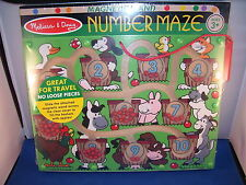 Childrens Puzzle Magentic Number Maze Hand Crafted 3 and up Melissa and Doug 6