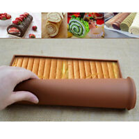Silicone Swiss Roll Mould Cookie Cake Decor Biscuit Mold Home Baking Tools