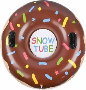Snow Tube Inflatable Snow Tube Sled Thickened 0.6mm PVC Snow Tubes Inflatable
