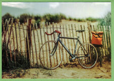 PEARSON Bicycle and Bag at the Fence Russian modern photo postcard