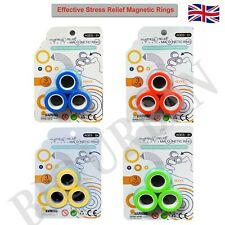 Stress Relief Finger Magnetic Ring Toy Fidget Spinner Creative Activity Craze