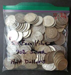 Bag of 100 50c Silver Half Dollars
