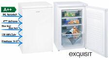 exquisit Gefrierschrank Tiefkühlschrank 84 Liter Weiß Standgerät