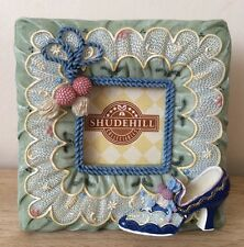 """Green/Blue Photo Frame 1.75"""" x 1.75"""" with Shoe and Tassle Detail"""