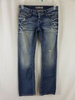 Buckle BKE Stella Boot Cut Womens Denim Blue Jeans Size 27 x 33 1/2 Med Wash Low