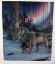 James Meger Night Lights Print Wolves