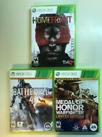 Xbox 360 Shooter 3x Lot - Homefront, Battlefield 4 & Medal of Honor Warfighter