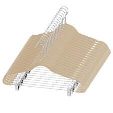 ZOBER Premium Quality Space Saving Velvet Pants Hangers - Ivory (20 Pack)