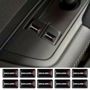 4X Black Nismo Skyline GTR Car Sticker Emblem Badge Decal Juke - HIGH QUALITY