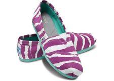 NEW Authentic TOMS Purple Zebra Stripe Vegan WOMEN'S CLASSICS, Women Size 5