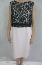 Basler Size 12 Light Pink Black Lace Cocktail Mini Dress