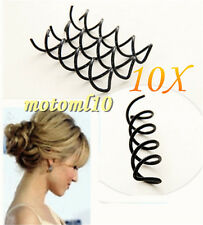 10PCS Women Metal Spiral Spin Screw Pin Hair Clip Twist Barrette Styling Tool MO