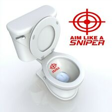 Sniper Toilet Decal AIM LIKE A SNIPER TARGET BATHROOM DECAL DECOR FUNNY RED