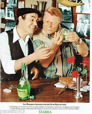 PUBLICITE ADVERTISING 115  1978  IZARRA liqueur basque