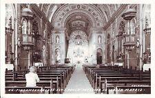 Brazil Brasil Pindamonhangaba Sao Paulo - Igreja Matriz Interior old RP postcard