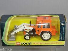"CORGI MODEL No.54    MASSEY-FERGUSON ""50B"" TRACTOR WITH SHOVEL        VN MIB"
