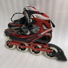 Rollerblade Mens Marathon Carbon 100mm Wheels Speed Skates Size 10.5 Red Black