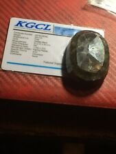 Loose Large 390 Cts. Golden Black Natural Oval Sapphire with KGCL certificate.