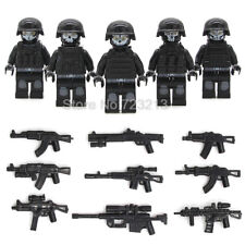 5 Pcs /Lot SWAT Ghost Soldier Military With Weapon Gun Army Complete Fits Lego