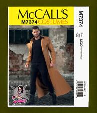 Yaya Han Mens Long Coat/Duster Sewing Pattern~Costume (Sizes 46-52) McCalls 7374