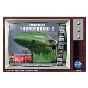 AIP Thunderbird 2 Transparent with Rescue Vehicles Plastic Scale Model Kit 1/350