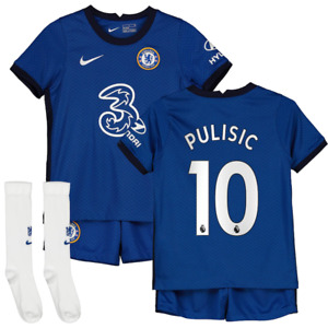 Chelsea Football Mini Kit Nike Baby Pulisic 10 Home Mini Kit Set - New