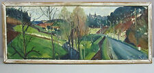 LOUIS TRAVERT__O/C Landscape by Noted French Artist__Framed/Signed__SHIPS FREE