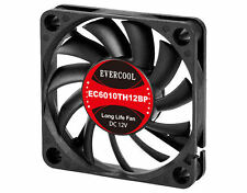 EVERCOOL EC6010TH12BP 60mm x 60mm x 10mm Dual Ball Bearing PWM Fan, PWM 4Pin