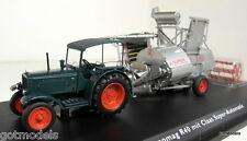 Schuco 1/43 Scale 02785 Hanomag R40 + Claas Super Automatic diecast farm model