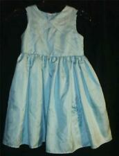 Disney Tinkerbell Embroidered Aqua Party Dress Girls Sz 6 Polyester EUC