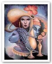 Women of the World Essud Fungcap African American Art Print 22x28