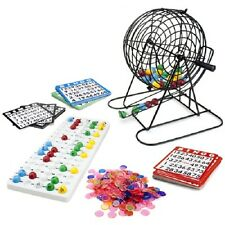 "Complete Deluxe Bingo Game Set with 9"" Cage, Balls, Cards, and Markers"