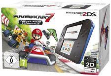 Nintendo 2DS Konsole schwarz/blau + Mario Kart 7 vorinstalliert (NEU & OVP!)