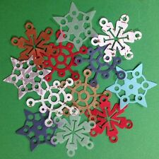 "SNOWFLAKE DIE-CUT(12pc)Approx.2"" Christmas•Holiday•Snow •Ice•Glitter•Made In USA"