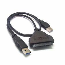 """USB auf SATA 7+15 Pin Konverter Adapter Kabel für 2.5"""" HDD Festplatten USB 3.0"""