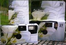 10 CALLA LILY COLOR FILM DISPOSABLE WEDDING CAMERAS party Favors 35mm 27exp