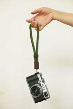 Army green soft climbing rope 10mm handmade camera wrist strap tan   Windmup