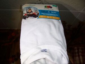 FRUIT OF THE LOOM BOYS THERMAL UNDERWEAR SET SIZE XL 14-16 WHITE SHIRT AND PANTS